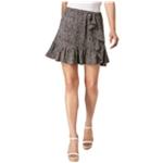 Michael Kors Womens Printed Ruffled Asymmetrical Skirt