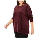 Calvin Klein Womens Velour Pullover Sweater