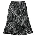NY Collection Womens Tiered Midi Skirt