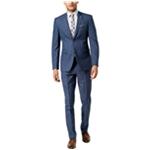 Penguin Mens Blue Plaid Two Button Formal Suit