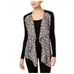Michael Kors Womens Mixed-Media Cardigan Sweater