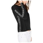Michael Kors Womens Logo-Tape Embellished T-Shirt