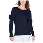 Michael Kors Womens Ruffle Sleeve Pullover Sweater