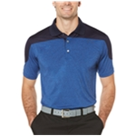 PGA Tour Mens Colorblocked Rugby Polo Shirt