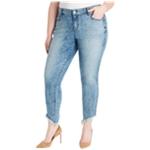 William Rast Womens Raw Hem Skinny Fit Jeans