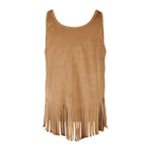 Speechless Girls Fringe Hem Tank Top