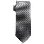 Sean John Mens Large Basketweave Self-tied Necktie