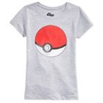 Mighty Fine Girls Pokeball Graphic T-Shirt