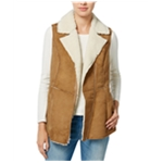 Wildflower Womens Faux-Shearling Motorcycle Vest