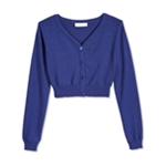 Bonnie Jean Girls Buttoned Crop Cardigan Sweater