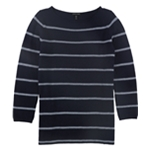 Eileen Fisher Womens Striped Boat Neck Pullover Sweater