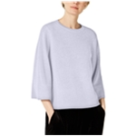 Eileen Fisher Womens Crew Neck Ribbed Pullover Sweater
