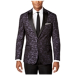 Ryan Seacrest Distinction Mens Camouflage Two Button Blazer Jacket