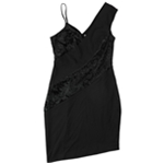 Rachel Roy Womens Mixed Media Bodycon Dress
