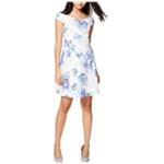 Rachel Roy Womens Floral Print Fit & Flare Dress