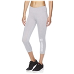 Reebok Womens Branded Capri Compression Athletic Pants