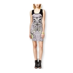 Rampage Womens Printed Front Bodycon Dress
