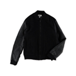 Kenneth Cole Mens Mixed-Media Bomber Jacket
