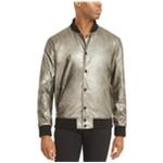 Kenneth Cole Mens Metallic Bomber Jacket