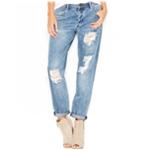Rachel Roy Mens Ripped Girlfriend Regular Fit Jeans