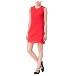 Rachel Roy Womens Front-Zip Sheath Dress
