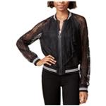 Rachel Roy Womens Lace Bomber Jacket