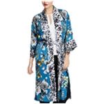 Rachel Roy Womens Floral Rebel Kimono Sweater