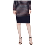 Rachel Roy Womens Stretch Pencil Skirt