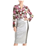 Rachel Roy Womens Iggy Metallic Pencil Skirt