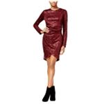 Rachel Roy Womens Sequined Tulip Sheath Dress