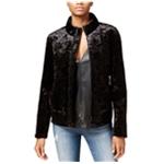 Rachel Roy Womens Velvet Bomber Jacket