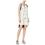 Rachel Roy Womens Printed High-Low Dress