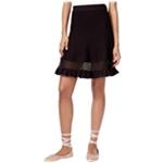 Rachel Roy Womens Mixed-Media Pencil Skirt