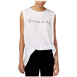 Rachel Roy Womens Graphic Muscle Tank Top