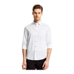 Kenneth Cole Mens Ombre Stripe Button Up Shirt