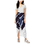 Rachel Roy Womens Linen Wrap Skirt