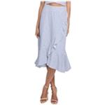 Rachel Roy Womens Ruffled Faux Wrap Skirt