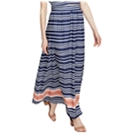 Rachel Roy Womens Striped Maxi Skirt