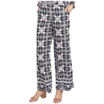 Rachel Roy Womens Printed Casual Wide Leg Pants