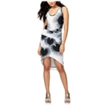 Rachel Roy Womens Printed Bodycon High-Low Dress