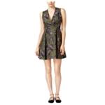 Rachel Roy Womens Crane Grommet A-line Dress