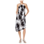 Rachel Roy Womens Printed Asymmetrical Dress