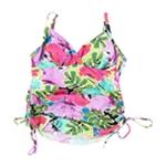 Island Iscape Womens Floral Tankini Swim Top