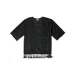 Juniper Ln Womens Grid Burnout Shawl Sweater