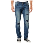Ring Of Fire Mens Patch Slim Fit Jeans