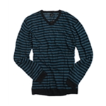 Sons of Intrigue Mens V-neck Stripe Knit Sweater