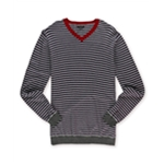 Sons of Intrigue Mens Sterling Combo Pullover Sweater