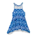 Rare Editions Girls IKAT Lace Tank Dress