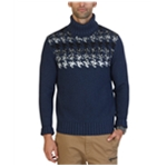 Nautica Mens Engineered Houndstooth Knit Sweater