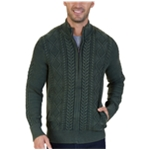 Nautica Mens Cable Cardigan Sweater